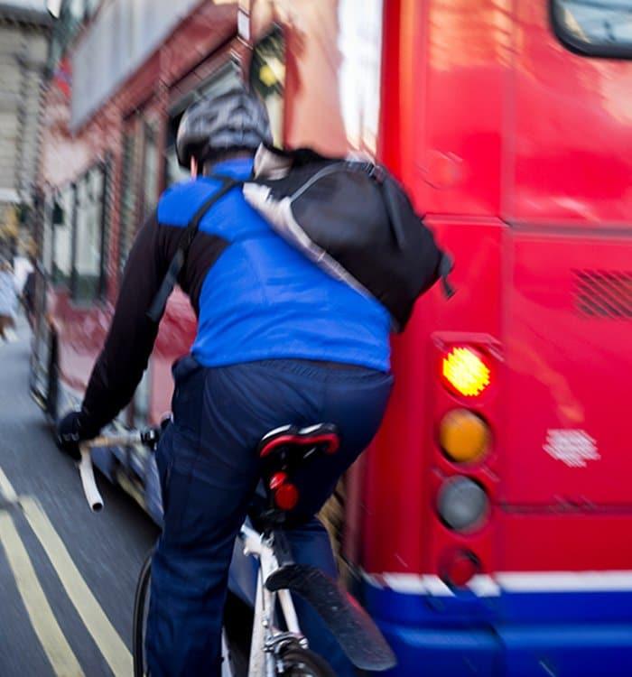 bike riding on NYC street