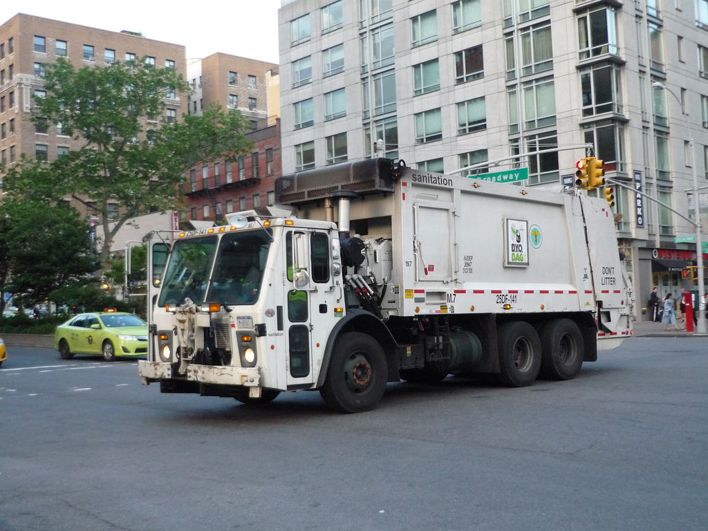 Garbage truck accident in NYC
